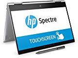 HP Spectre x360 13-ae000ns - 13.3' FullHD Convertible Laptop (Intel Core i5-8250U, 8 GB RAM, 128 GB SSD, Intel Graphics, Windows 10), couleur argent - clavier espagnol QWERTY